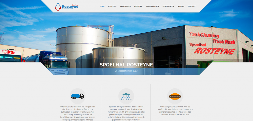 New website of Spoelhal Rosteyne online