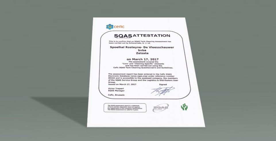 Newsflash: SQAS audit succesvol doorlopen!