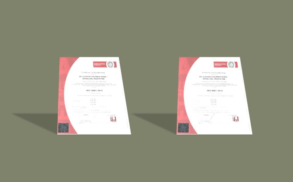 hercertificering van 20/04/2018: SO 9001:2015 & ISO 14001:2015